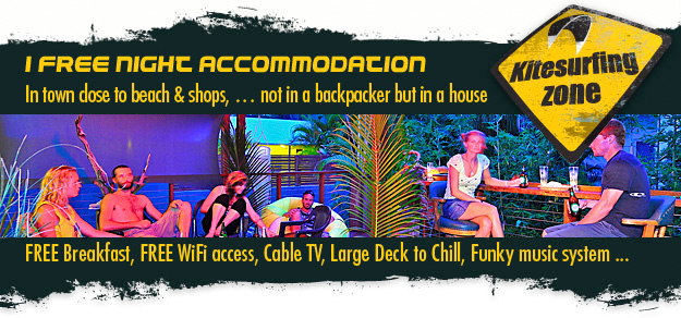 free night accommodation kitesurf and stand up paddle board package